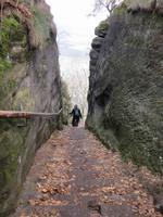 Nordabstieg vom Lilienstein