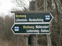 Wegweiser nach Waltersdorf