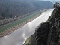 Blick von der Bastei in das Elbtal