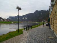 Elberadweg in Rathen