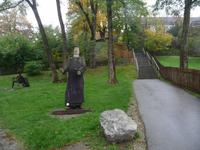 Aufgang zum Kloster Andechs.