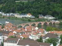 Blick von der Schlossterrasse auf den Neckar