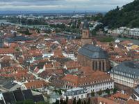 Blick von der Schlossterrasse auf Heidelberg