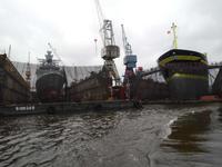 Trockendocks im Hafen Hamburg