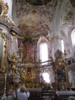 Blick in die Kirche Andachs
