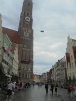 Altstadtstraße in Landshut - vor dem Hochzeitszug