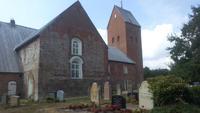 Föhr, Inselrundfahrt, Friedhof und Kirche St. Laurenzius bei Süderende