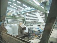 Blick in die große Baudockhalle