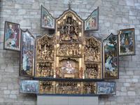 Das Heimbacher Gnadenbild in einem Antwerpener Schnitzaltar.