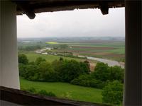 Blick von der Heuneburg ins Donautal