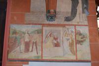 147 Stiftskirche St. Goar, Wandbild des Heiligen Johannes aus dem 14. Jhd.