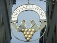 Der Eingang zur Dosselgasse in Rüdesheim