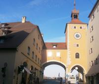 Regensburg Stadttor zur Steinernen Brücke