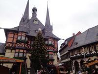 Rathaus auf dem Weihnachtsmarkt in Wernigerode