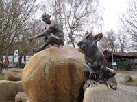 Luzifer und ein Humunkulus auf dem Hexentanzplatz