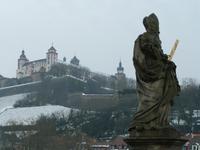 Blick zur Festung Marienberg in Würzburg