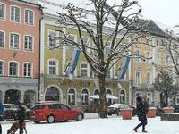 Schneegestöber in Traunstein