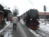 Fahrt mit der Harzer Schmalspurbahn zum Brocken