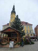 Rathaus Bautzen mit Weihnachtsmarkt
