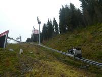 Bergauffahrt mit der WieLi-Erlebnisbahn zum Schanzenturm