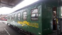 Fahrt mit der Fichtelbergbahn von Cranzahl nach Oberwiesenthal