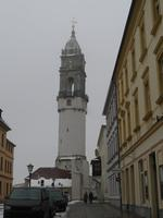 Der Reichenturm steht schief und ist Bestandteil der historischen Stadtbefestigung