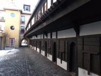 die historischen Fleischbänke in Neustadt/Orla sind die am besten erhaltenen in Europa