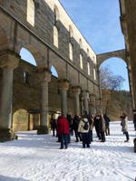 die imposante Klosterruine von Paulinzella