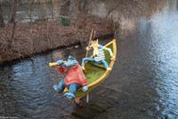 Neujahr 2017 - Spaziergang durch die Erfurter Altstadt - Kapitän Blaubär - Vertreter des Kinderkanals