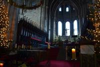 114 Bamberg, Altar mit Bischofsstuhl und Papstgrab