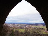 Blich von Schloss Hohenzollern auf die schwäb. Alb