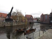 Lueneburg Hafen mit altem Kran