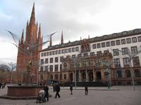 Rathaus und Marktkirche von Wiesbaden