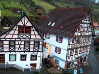 Alpirsbach, Blick von unserem Hotel