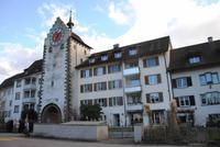 Stadtmauer die heute zu Wohnungen umfunktioniert ist (Stein am Rhein)