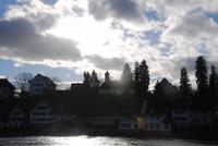 Stadtteil von Stein am Rhein am anderen Ufer