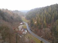 Blick von der Burg Rabenstein ins Ailsbachtal