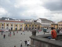 Blick vom Konvent auf Quito