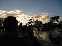 Cuyabeno Reservat - Große Lagune - Sonnenuntergang