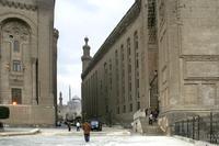 An der Sultan Hassan Moschee