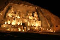 Lichtshow in Abu Simbel