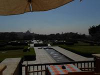Blicj auf Kairo vom Restaurant aus