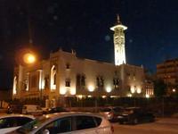 Die Moschee von Fuengirola bei Nacht