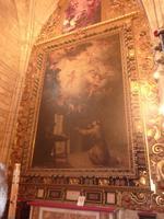 Von dem Gemälde des Antonius von Padua wurde ein Teil gestohlen und wiedergefunden, sehr sinnbildlich