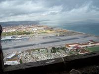 Blick auf die Landebahn von Gibraltar