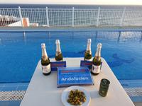 Abschied von der Reise auf der Terrasse von Hotel in Nerja (3)