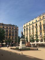 Hauptplatz in Girona