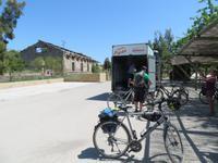 Via Verde de la Sierra Ankunft am Bus