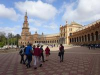 Die Plaza de Espana in Sevilla