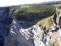 Der Nervion führte kein Wasser am Monte Santiago